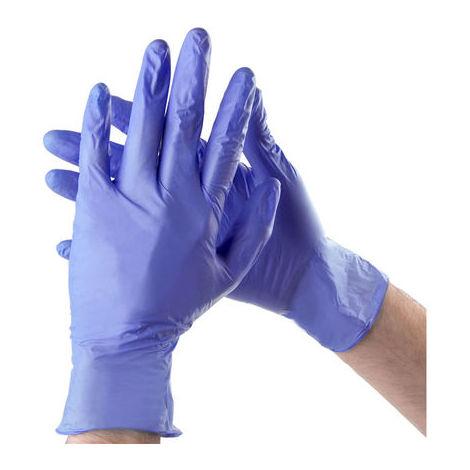 Guante Nitrilo Azul Talla L Sin Polvo Calidad Superior 100 Unidades