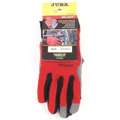 Guante Piel Rojo Reforzado Velcro - Juba - 270 R - Talla 9