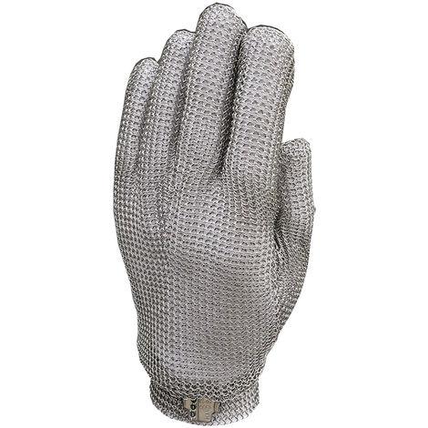 Guante protector de malla de acero inoxidable resistente al corte,M