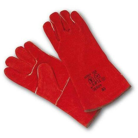 guante soldador rojo t unica 408
