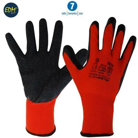 Guante soporte polyester y recubrimiento de latex talla 7