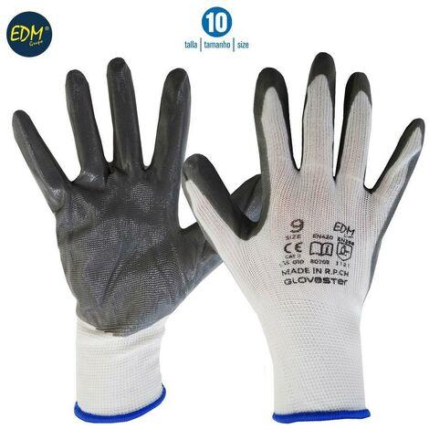 Guante soporte polyester y recubrimiento de nitrilo talla 10