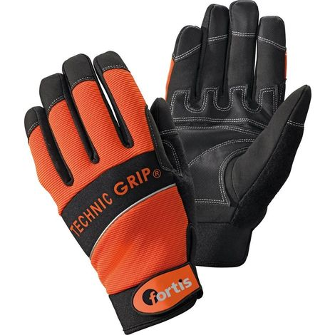 Guante TechnicGrip. gr. 10, Orange/Black. FORTIS