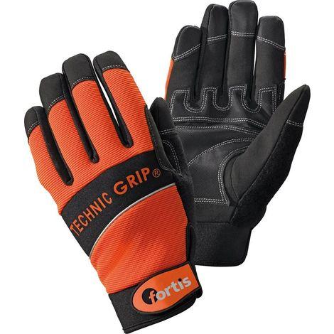 Guante TechnicGrip. gr. 8. Orange/Black. FORTIS