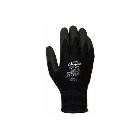 Guante Termico L09 Sin Costuras Ninja Pvc-Volrizo Negro Juba