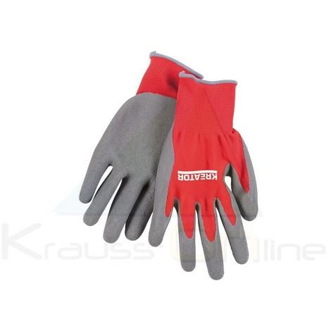 Guante trabajo látex coat rojo/gris (KRTW007XL)