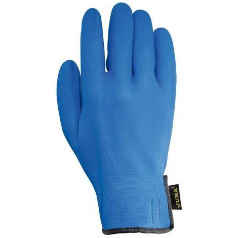 Guante trabajo m8 forro nylon juba nitr. az agility blue