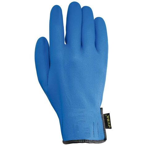 Guante Trabajo Xl10 Forro Nylon Juba Nitr. Az Agility Blue