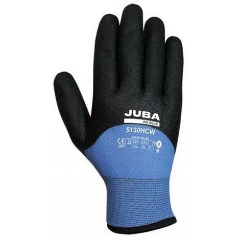 Guante trabajo xl10 forro nylon juba pvc ne/az ice blue