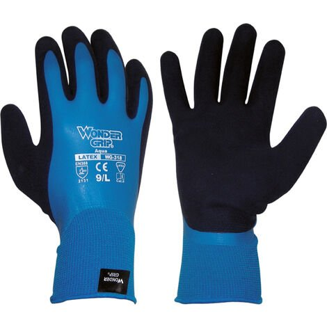 GUANTE WONDERGRIP AQUA LATEX WG318 T-08