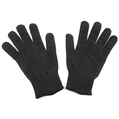 Guantes a prueba de cortes, guantes de defensa personal,Negro