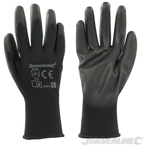 Guantes con palma de color negro (Pequeña)