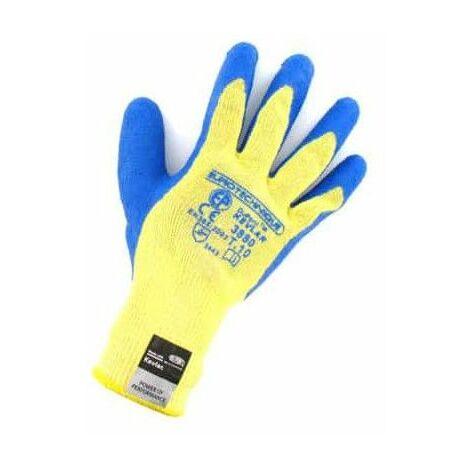 guantes de kevlar resistentes al corte azul Tamaño recubrimiento de látex XL / 10 - Jaune