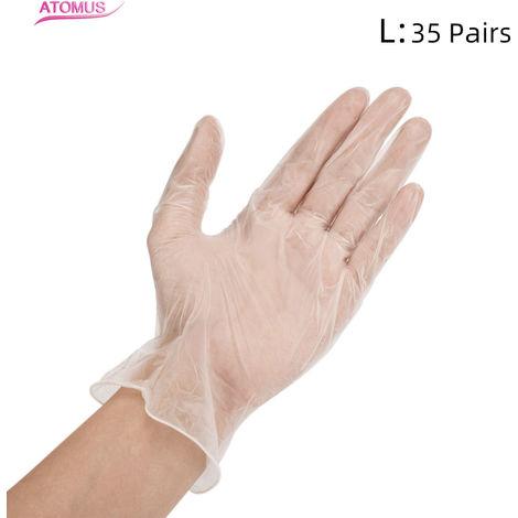 Guantes de nitrilo, guantes desechables grandes, 35 pares