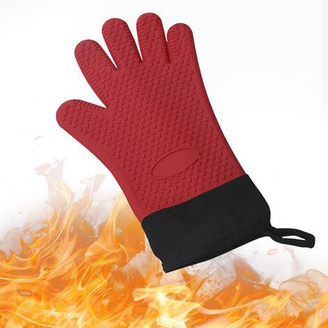 Guantes de parrilla resistentes al calor, guantes de silicona