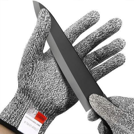 Guantes de seguridad a prueba de cortes de seguridad de 5 grados, XL-26 cm,Gris