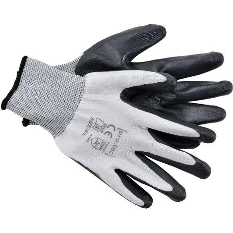 Guantes de trabajo - Color: negro - tamaño L - Guantes de protección para jardinería - 24 pares