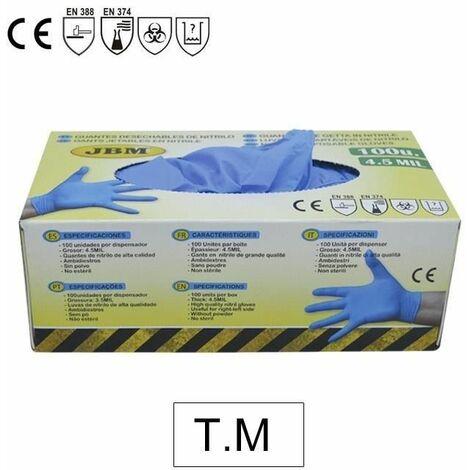 Guantes desechables de nitrilo 4,5 mil. T. M JBM 52447