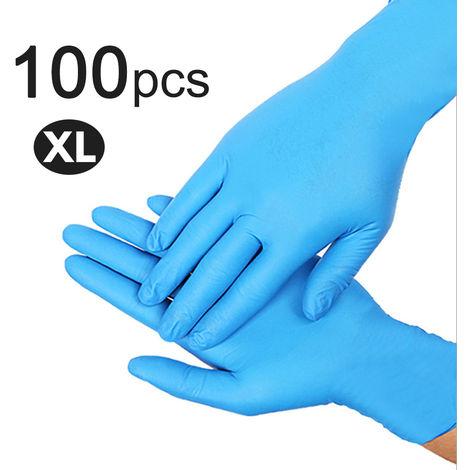 Guantes desechables de nitrilo, guantes sin latex sin polvo, 100 piezas,XL