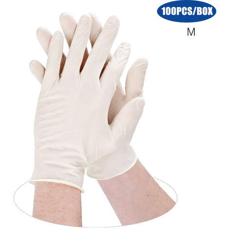 Guantes desechables de PVC, guantes medicos, sin polvo, 100PCS/Box,M