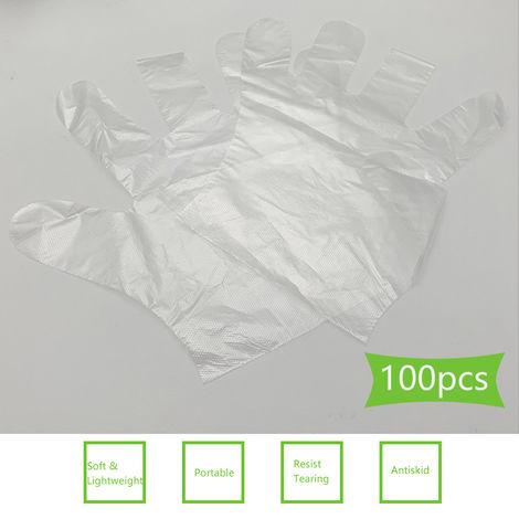Guantes fotograficos, guantes suaves transparentes desechables, 100 piezas