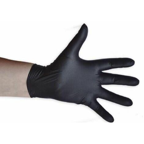 Guantes negros desechables de nitrilo T:M 4,5MIL JBM 52681