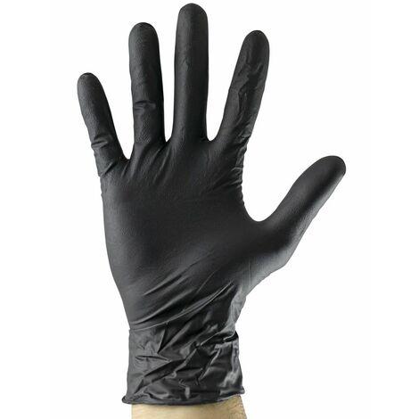 Guantes negros desechables de nitrilo T:XL 4,5MIL JBM 52683