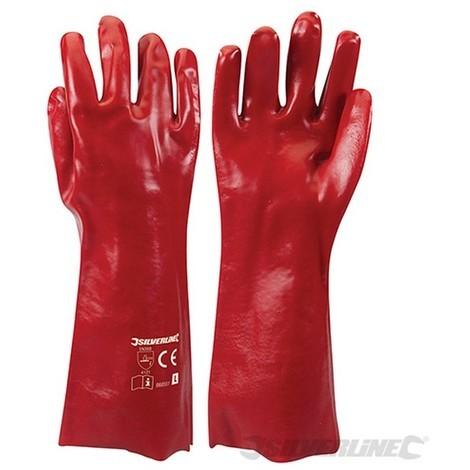 Guantes PVC color rojo (L 10)
