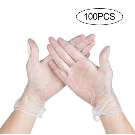 """main image of """"Guantes transparentes desechables, guantes de PVC, 100 piezas,L"""""""