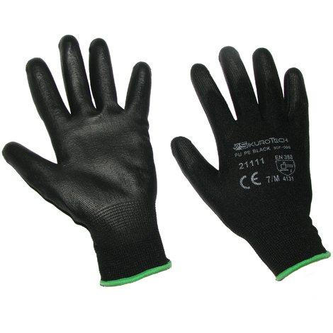 24 paia Guanti da lavoro con grip Protezione UE guanti da lavoro in nylon PU Bianco Guanti di montaggio bianco