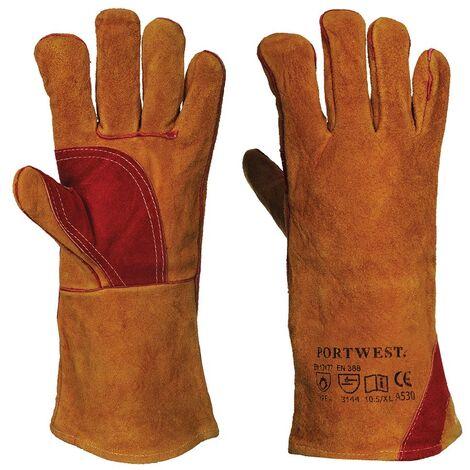 Guanti di protezione in pelle rinforzata da saldatore, taglia xl - Portwest