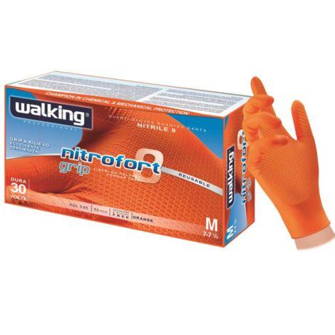 Guanti in nitrile spessorato walking nitrofort grip