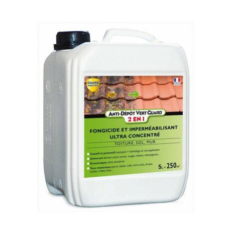 Guard Industrie Anti Dépôt Vert Guard 2en1 - Nettoyant Imperméabilisant Invisible Anti Verdissure - 5 L traite 250 m²