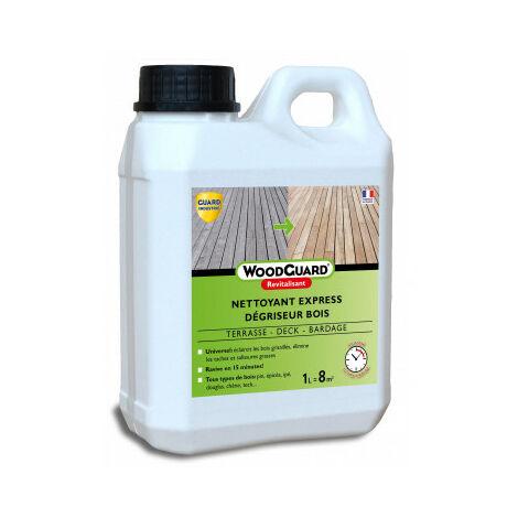 Guard Industrie Dégriseur Nettoyant Bois WoodGuard Revitalisant -Redonne Couleurs au Bois - Efficace en 15 Minutes -1L - 8m²