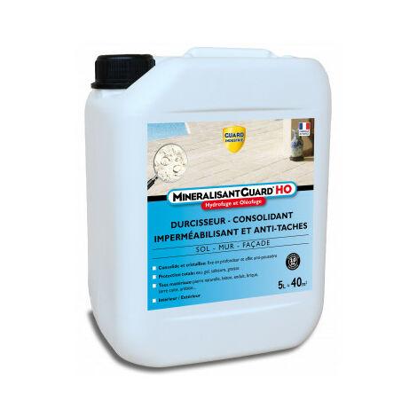 Guard Industrie - Durcisseur Imperméabilisant Anti Tache Effritement - Mineralisant Guard HO - 5 L -jusqu'à 50m²