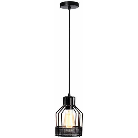 Guard Light Wire Ceiling Industrial Black Chandelier Pendant