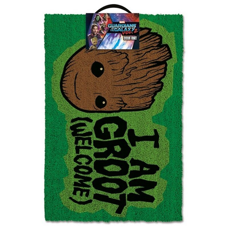 Image of I Am Groot Door Mat (One Size) (Evergreen/Brown) - Guardians Of The Galaxy 2