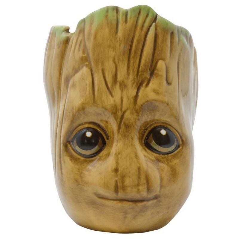Image of Baby Groot Mug (One Size) (Brown) - Guardians Of The Galaxy