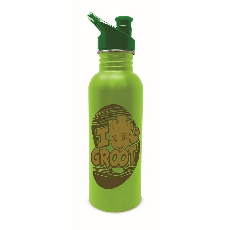 Image of Groot Sports Bottle (One Size) (Green/Brown) - Guardians Of The Galaxy