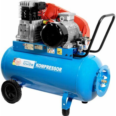 GÜDE 635/10/90 PRO - Compresor profesional de 100 litros, fuente de alimentación trifásica. Apto para trabajo pesado