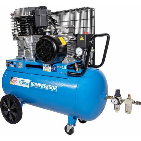 GÜDE 805/10/100 PRO - Compresor profesional de 100 litros, fuente de alimentación trifásica. Apto para trabajo pesado