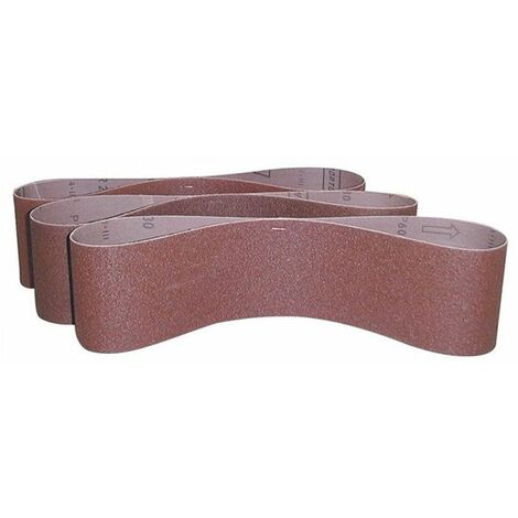 Güde Bandes abrasives 915x100 mm Grain 80, Lot de 3 - 41285