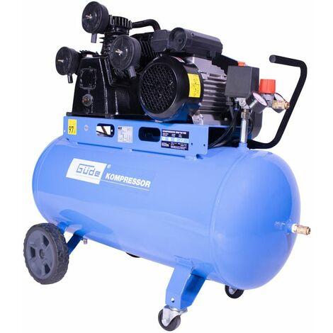 GÜDE - COMPRESOR 550/10/100 2.2 KW, tres cilindros (500 l / min), tanque de 100 litros, 10 bar