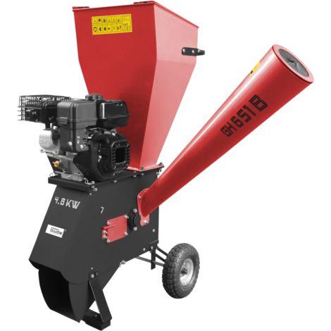 GÜDE GH 651 B - Biotrituradora con motor de gasolina de 4 tiempos, diámetro máximo recomendado de ramas 76 mm