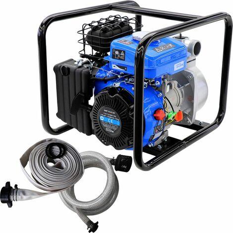 GÜDE GMP 15.22 SET - Motobomba de agua a gasolina 15000 litros-hora - mangueras y tubos incluidos