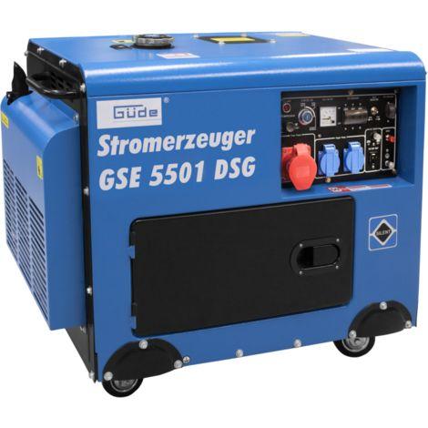 GÜDE GSE 5501 DSG - generador diesel silenciado 5000W, con ruedas