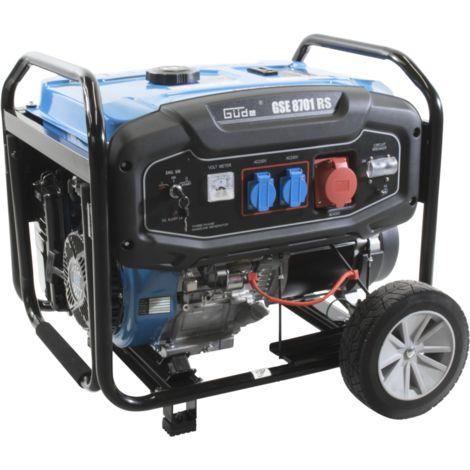 GÜDE GSE 8701 RS - generador 7800W con mango y ruedas para transporte