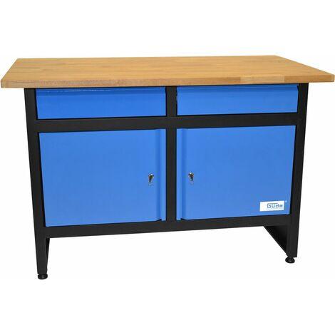 GÜDE GW 2/2 - Banco de trabajo con estante de madera