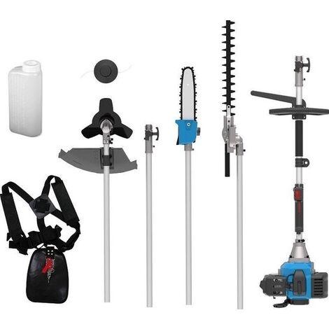 Güde Kit d'entretien de Jardin 4 en 1 Multifonction - Taille-haie Sense Trimmer GPS 1001 - 2 temps