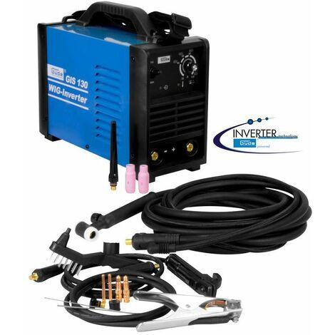 Güde Q9 Schweißgerät Inverter GIS 130 WIG Schweißen SET Gas Elektroden